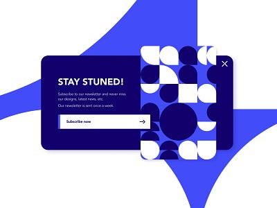 Subscribe - Daily UI Challenge 026 geometric blue subscription subscribe dailyuichallenge026 dailyui026 dailyui branding ui logo illustrator figma illustration graphism graphicdesign vector design