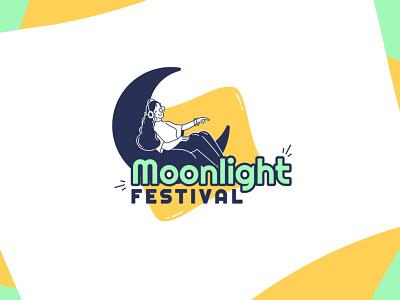Fictional Music Festival logotype uiux weeklywarmup branding ui logo illustrator figma illustration graphism graphicdesign vector design