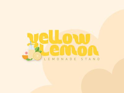 Lemonade stand logotype uxdesign uidesign uiux ui branding logo illustrator figma illustration graphism graphicdesign vector design