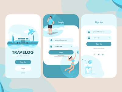 Daily UI :: 001 - Sign up form illustration mobileapps mobile mobileapp ui login signupform signup