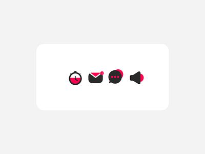 Daily UI :: 005 - Dark Icons icon design grey coral pink top app apps tech web design dailyui userinterface ui design uiux ui icon iconset icons dark