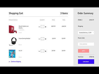 Shopping cart design - UI ecommerce shoppingcart sketch userinterface uidesign
