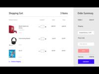 Shopping cart design - UI