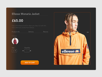 Ellesse - Product card design ui typography shopping shop productcard interface design ui shoppingcart product card interfacedesign interface fashion ecommerce uidesign sketch