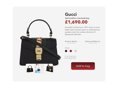 Gucci product card shoppingcart productcard ui sketch interface design shopping product card fashion ecommerce uidesign