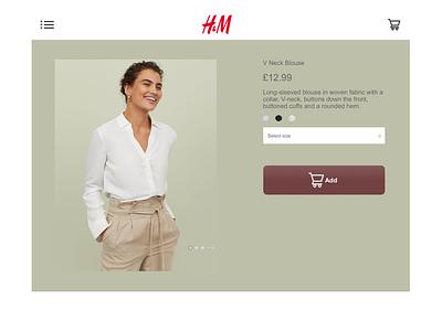 H&M product interface khaki purchase sketch product shopping fashion interface uidesign uiux ecommerce productcard