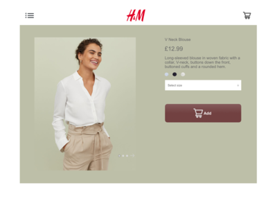 H&M product interface