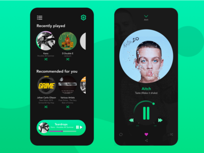 Spotify music player UI redesign