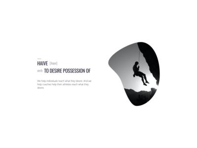 haive logo incorporation & dictionary style headline