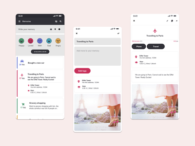 Diary app ui ux mobile app android ios mobile diary