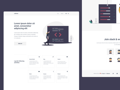 codiamo code sleek minimal illustrator webapp webdesign web