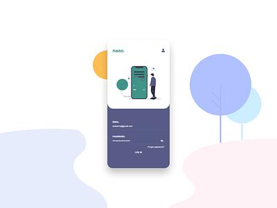 Naao Login Page figma sketch signup ios android app mobile uiux ui login naao