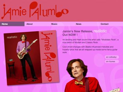 "New site for LA based artist ""Jamie Palumbo."""