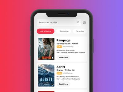 Movie ticket booking app