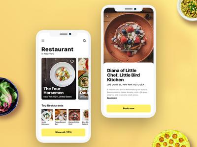 App Design for find best restaurants