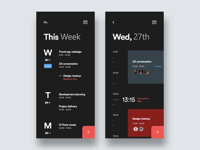 Task Planning App (Dark Theme)