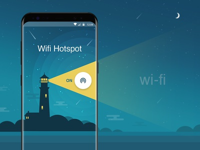 Wifi Hotspot gradient android ui ux interface mobile app