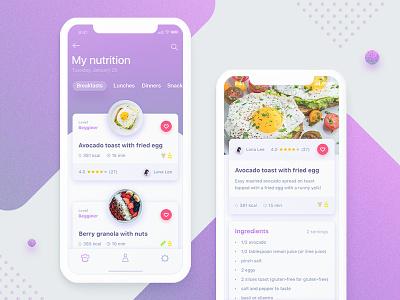 Food app userinterface meal interaction food x ipone ui ux diet mobile app