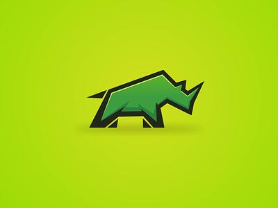 Rhino logo Design artchiles-design motion graphics 3d animation graphic design ui artwork branding brand illustration design vector simple logodesign logo