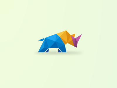 Rhino motion graphics graphic design 3d animation animal caracter ui illustration design vector simple logodesign brand branding artwork digitalart rhino logo