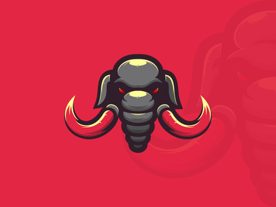 MAMMOTH artchiles-design motion graphics graphic design 3d animation ui illustration vector simple brand branding artwork caracter design caracter mammoth animal logodesign design logo