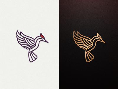 Woodpecker artchiles-design motion graphics graphic design 3d animation ui illustration vector simple brand branding artwork woodpicker bird logodesign design logo
