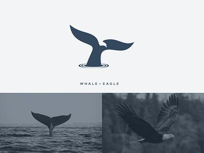 WHALE + EAGLE artchiles-design logos motion graphics graphic design 3d animation ui illustration design vector simple logodesign brand branding artwork eagle whale logo
