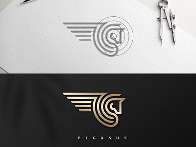 Pegasus artchiles-design motion graphics graphic design 3d animation ui illustration design vector simple logodesign brand branding artwork mythology pegasus logo