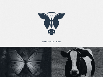 Butterfly + Cow artchiles-design animal motion graphics graphic design 3d animation ui illustration design vector simple logodesign brand branding artwork cow butterfly logo