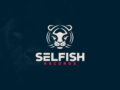 Logo for Selfish Records motion graphics graphic design 3d animation ui illustration design vector simple logodesign brand branding artwork records bengal tiger logo