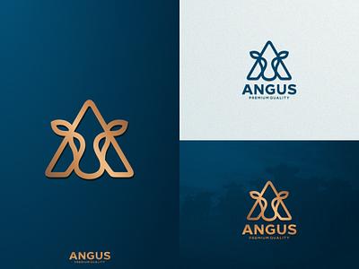A + Angus {logo for angus} artchiles-design a motion graphics graphic design 3d animation ui illustration design vector simple logodesign brand branding artwork angus logo