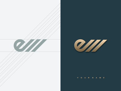 EM monogram artchiles-design logos motion graphics graphic design 3d animation ui illustration design vector simple logodesign brand branding artwork em monogram logo