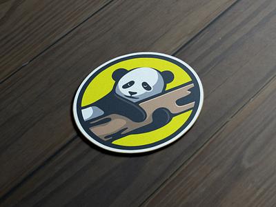 Panda {sticker} artchiles-design motion graphics graphic design 3d animation ui illustration design vector simple logodesign brand branding artwork sticker panda logo