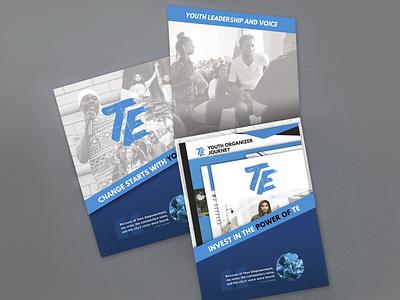 Donation Campaign, Teen Empowerment branding folder poster design