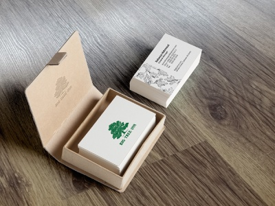 Business cards, Big Tree Inn design business card