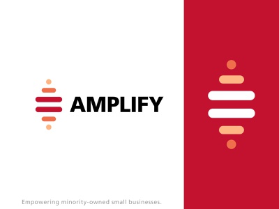Amplify Small Businesses Concept logo branding design