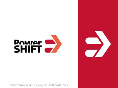 PowerShift Concept logo branding design