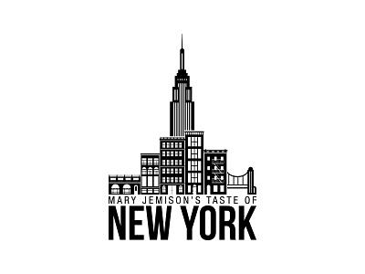 Taste of NYC Event Mark logo branding illustration design