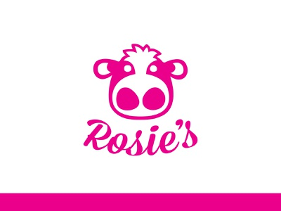Rosie's Ice Cream Logo logo branding illustration design