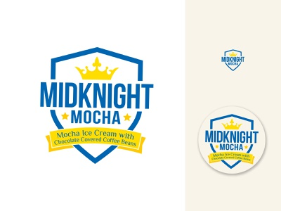 MidKnight Mocha Ice Cream mark and Label logo label