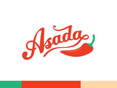 Asada Taco Restaurant Logo logo branding illustration design