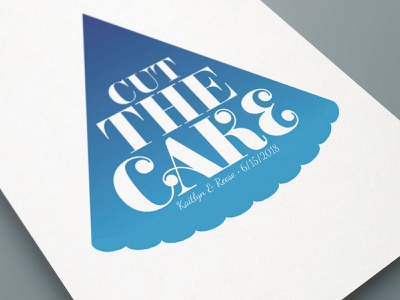 Cut The Cake typography design