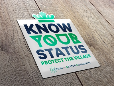 Know Your Status sticker typography design
