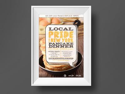 Pancake Dinner event poster poster event design