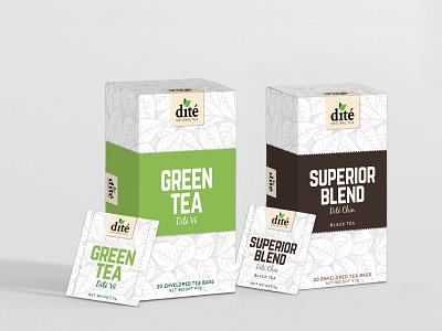 Dite Tea Packaging branding design packaging logo package design