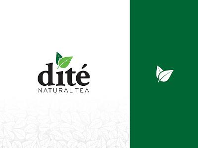 Dite Tea logo identity illustration branding logo