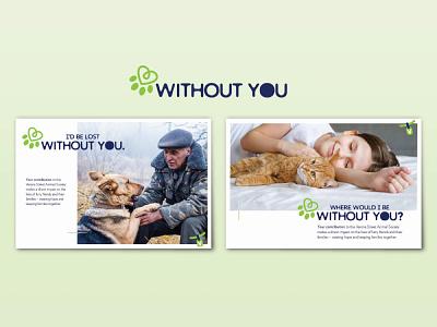Animal Shelter Appeal Letter branding logo design animals dog cat postcard appeal