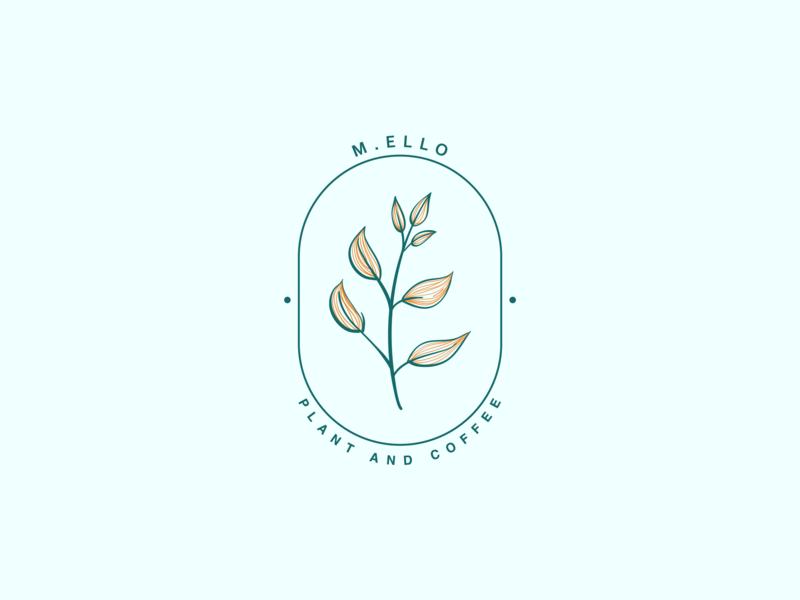 Mello - Plant and Coffee coffee plant typography design illustration logo color minimal branding