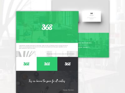368 | Visual Identity neistat casey workingspace mockups eight six three identity visual branding