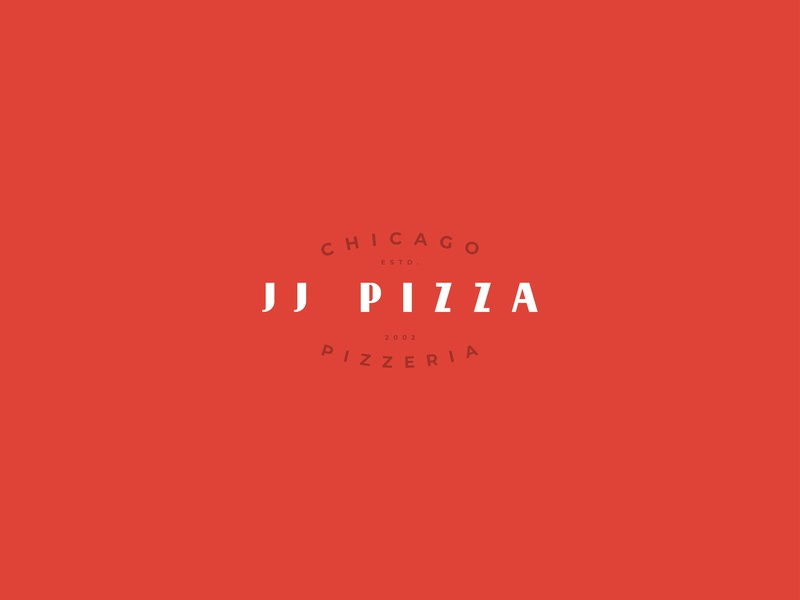 JJ Pizza logo chicago pizzeria jjpizza thirtylogos design identity visual logotype logo branding brand
